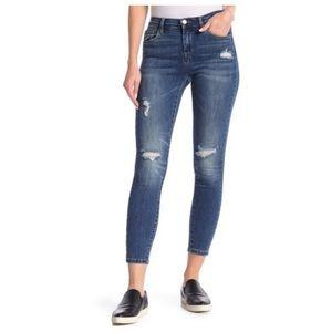 Blank NYC distressed mid rise skinny jean